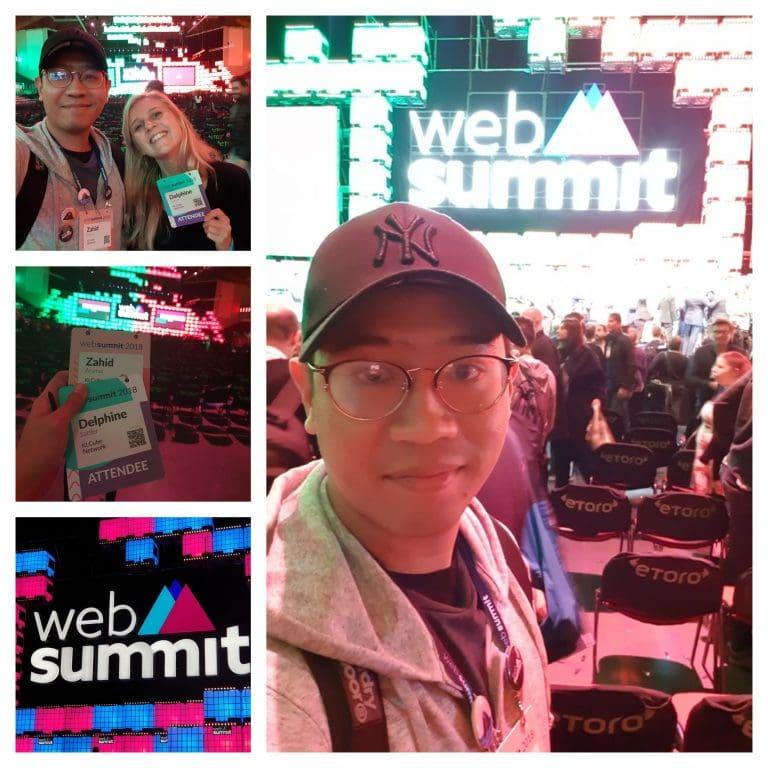 Zahid Aramai at Web Summit 2018, Lisbon Portugal