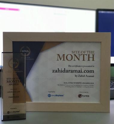 Awards Zahid Aramai - About Me